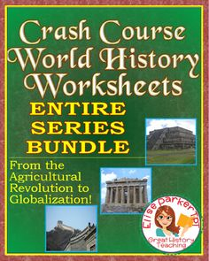 @greathistory posted to Instagram: Tap the link in my bio for more info: @greathistoryteaching FOR A GREAT WAY TO TEACH WORLD HISTORY: Crash Course World History worksheets for the first season -- all 42 episodes -- available in one download at a super-low-price! Features a variety of worksheet formats to keep student interest high, as well as answer keys for every episode. All worksheets included in both standard and time-stamped versions to give teachers options. Crash Course worksheets… World History Lessons, Teaching History, Teaching Resources, Teaching Ideas, Crash Course World History, French Revolution, Russian Revolution, American Revolution, Map Worksheets