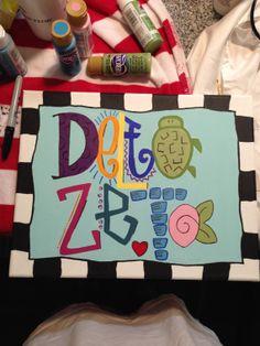 Delta Zeta   Decorative Canvas  Sorority by TheCanvasShop94, $25.00