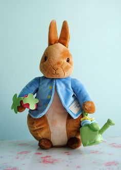 Peter Rabbit....I am just in LOVE with stuffed bunnies!  I have quite the collection.