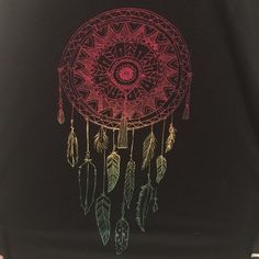 Rasta dream catcher Black tank top with a rasta dream catcher. Bought at zumiez online hoping this would fit but too big. Size large. Purchased for $32. NO TRADES! Tops Tank Tops