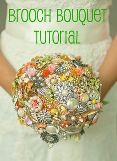 Brooch Bouquet Tutorial with Ribbon and Draped Pearls (in which I create an elaborate analogy between marriage and crafts)