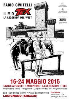 Cartaz do evento Fabio Civitelli o meu Tex, a lenda do Oeste, em  Lucignano