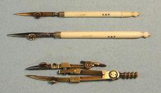 Elliott Tubular Compass Set (c1850) - Partial set of Elliott instruments