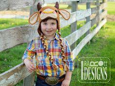 Handmade Crochet Bull Animal Hat For All Ages