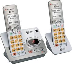 At&t - EL52203 Dect 6.0 Expandable Cordless Phone System with Digital Answering System - Silver