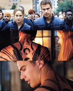 Divergent - Four and his sexy tattoos