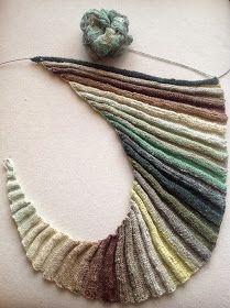 Halfway there!       Halverwege!         Yarn: NORO Taiyo Sock Yarn, colorway: S39   (50% Cotton, 17% Wool, 17% Polyamide, 16% Silk)   Patt...