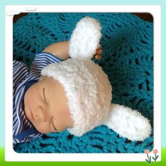 Thick Snuggly Adorable Little Lamb Baby Hat w by OnceUponACraft4U, too stinking cute!!! Want one for Landon!