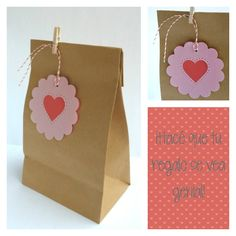 Papeles Pequeños: Tarjetas ♡ Tag Valentine's day Pretty Packaging, Gift Packaging, Diy And Crafts, Paper Crafts, Gift Wraping, World Crafts, Holidays And Events, Diy Gifts, Gift Tags