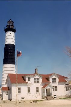 Michigan Lighthouses | Big Sable Point Lighthouse and Light