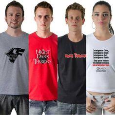 Fãs+de+#GameofThrones+:+Essas+são+para+os+fãs+de+#GameofThrones+#INIMIGOS#THENIGHTISDARK+#IRONTHRONE+#WINTERISHERE 😀🤓😘😍 www.camisetasdahora.com+|+camisetasdahora