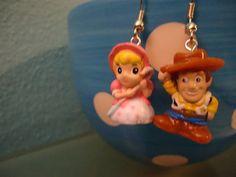 Toy Story Woody and Bo Peep Squinkie Earrings by heatherleboss, $6.00