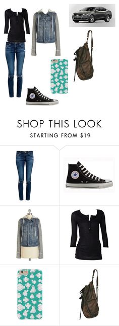 """""""Late Night Drive"""" by mechanicgeek ❤ liked on Polyvore featuring AG Adriano Goldschmied and Converse"""