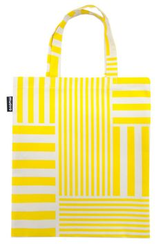 Muovo Stripes bag Striped Tote Bags, Reusable Tote Bags, Stripes, Yellow, Accessories, Line Art