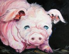 """Lucky the Pink Pig"" par Marcia Baldwin"