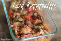 Tweet Ratatouille. This is impossible for me to say properly. My kids on the other hand know all aboutratatouille from some kids movie so they love to school me on the proper pronunciation. Anyway, ratatouille is a delicious meatless dish …