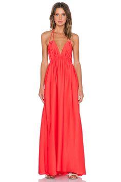 BCBGMAXAZRIA Kamala Maxi Dress in Bright Poppy
