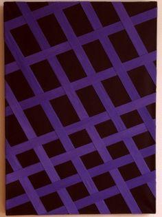 Exclusieve wanddecoratie - 08. Purple & Lila Series | Black with purple straps - O.25 - 3