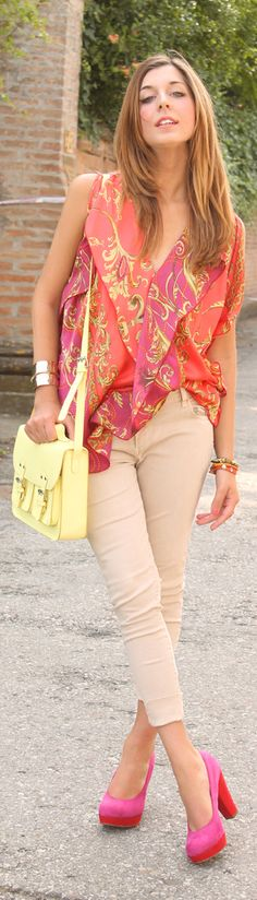 tangerine & foulard-love the color combo!