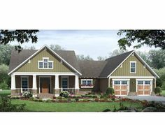 Eplans Craftsman House Plan - 1800 Square Feet and 3 Bedrooms from Eplans - House Plan Code HWEPL74852