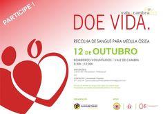 Recolha de Sangue para Medula Óssea > 12 out 2014, 8h30 - 12:30 @ Bombeiros Voluntários, Vale de Cambra #ValeDeCambra