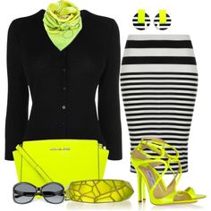 Neon Touch, created by kathy-martenson-sanko on Polyvore