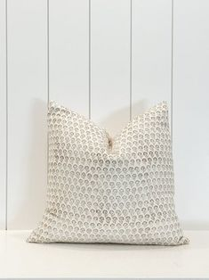 IKEA Billy Bookcase Hack - Wall Of Built-ins - The Sommer Home Beige Pillow Covers, Beige Pillows, Floral Pillows, Decorative Pillows, Ikea Billy Bookcase Hack, Simple Prints, Pillow Cover Design, Pillow Forms, Cotton Pillow