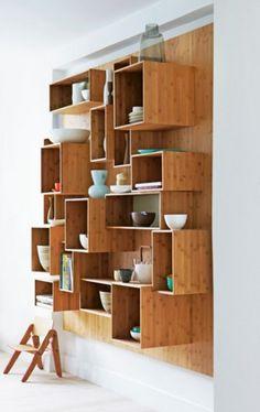 box wall shelving