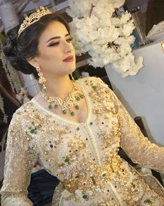 Caftan from Morocco - Anisa S - Morrocan Dress, Kaftan Moroccan, Moroccan Bride, Moroccan Wedding, Couture Dresses, Bridal Dresses, Anarkali Lehenga, Modesty Fashion, Muslim Fashion