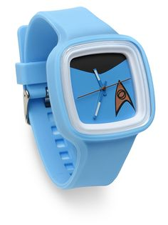 With a your division color on the strap and the insignia on the face, this watch marks you as a Star Trek fan without requiring a costume.