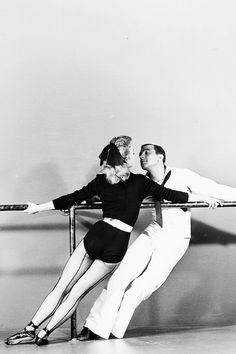 "Gene Kelly and Vera Ellen in ""On the Town"", 1949."