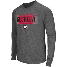 824f32648d4 Georgia Bulldogs Colosseum Slate II Long Sleeve T-Shirt - Charcoal