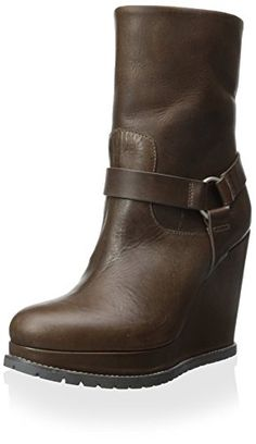 c8a7920e28f67d Brunello Cucinelli Womens Wedge Ankle Boot Brown 37 M EU7 M US -- Read more  reviews of the product by visiting the link on the image.