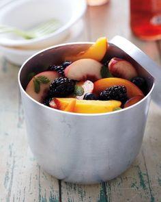 Or use this great, basic formula: citrus juice + fresh herb + honey or syrup. | 16 Ideas For Amazing Fruit Salads