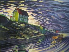Young Studios is a gallery and studio owned and operated in Fogo Island Newfoundland by Adam Young. Fogo Island Newfoundland, Newfoundland And Labrador, Canadian Painters, Canadian Artists, Art Grants, Parts Of The Earth, Brown House, Naive Art, Art For Art Sake