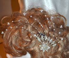 Crystal rhinestone bridal hair comb wedding hair comb