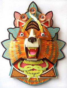AJ Fosik's animal totem plaques blend the whimsical with fierce craftsmanship