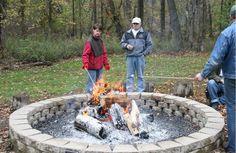 Large fire pit