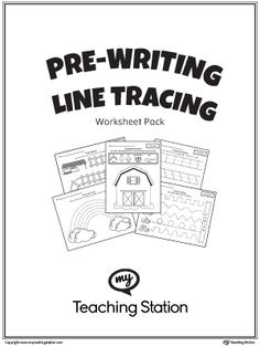 Help your children develop their fine motor skills with this Pre-Writing Line Tracing Workbook.