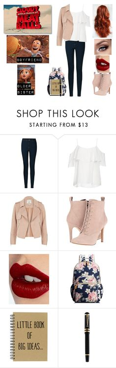 """Me in Cloudy with a chance of meat balls"" by lastamazonwarrior ❤ liked on Polyvore featuring Vero Moda, BB Dakota, River Island, INDIE HAIR, BCBGeneration, Charlotte Tilbury and Montblanc"