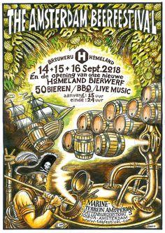 The Amsterdam Beer Festival 15 & 16 September 2018 Beer Festival, Amsterdam, Archive, September, Comic Books, Comics, Cartoons, Cartoons, Comic