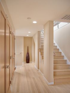 "light bamboo floor--available at Bamboo hardwoods- Vertical grain carbonized bamboo. Flooring is tongue & groove flooring. Stair treads ar cut from 3/4"" bamboo plywood. Available at Bamboo hardwoods"