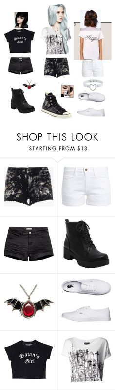 """""""Demon, fallen angel, and angel"""" by pentagram666 ❤ liked on Polyvore featuring Frame, H&M, Converse, Vans and Religion Clothing"""