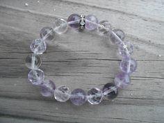 Natural Light Amethyst Stretch Bracelet by tlw1212 on Etsy