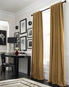 Messina Opulent Velvet Lined Wide Width Drape / Curtainworks.com