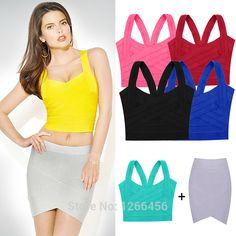 Find More Tank Tops Information about 2014 Woman's New Summer Elastic Bandage Crop Top Solid Candy Color Vest V neck Spaghetti Strap Tight Cute Tank Tops