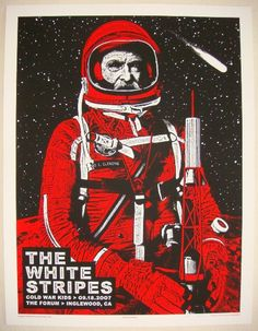 2007 The White Stripes - Inglewood Concert Poster by Rob Jones