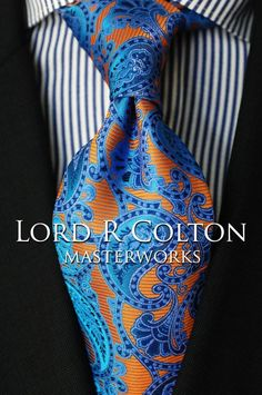 Lord R Colton Masterworks Tie - Cafayate Copper Woven Silk Necktie - $195 New #LordRColton #NeckTie