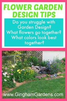 Do you struggle with Flower Garden Design? Stop by Gingham Gardens and get some simple tips that any home gardener can apply to help design their own flower garden for three seasons of blooms. Includes a printable list of perennial flowers with zone, sun requirements and bloom time. #howtodesignaflowergarden #easyflowergardendesign #flowergardeningforbeginners Flower Garden Borders, Flower Garden Plans, Garden Design Plans, Flower Garden Design, Garden Ideas, Best Perennials, Flowers Perennials, Planting Flowers, Flower Gardening