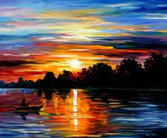 "leonid afremov sunset | ... PALETTE KNIFE Oil Painting On Canvas By Leonid Afremov - Size 30""x36"